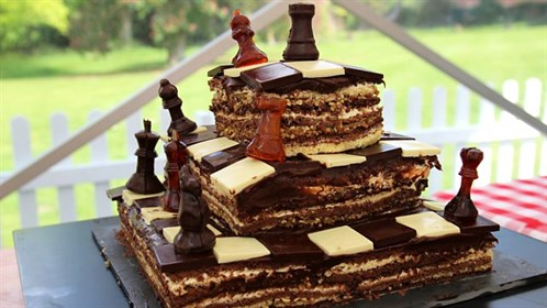 Thanks to the BBC for Great British Bake Off image. A very strategic cake…